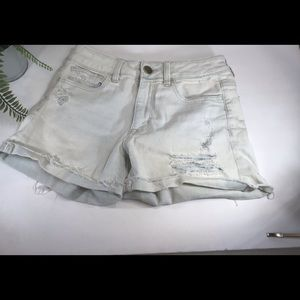 AMERICAN EAGLE OUTFITTERS SHORTS HI RISE SZ 4